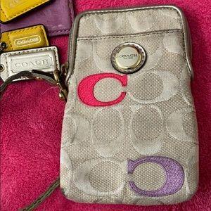 Coach coin /credit card wristlet